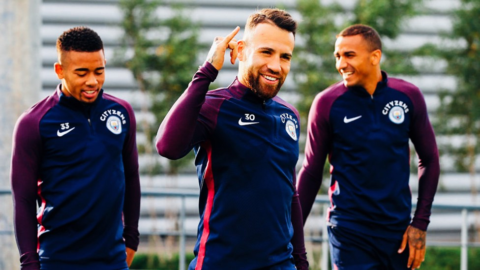 SAMBA STYLE: The South Americans, in fine spirits
