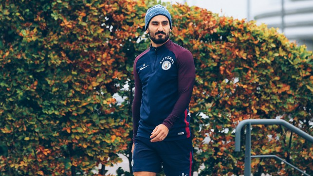 WRAPPED UP: Gundogan is ready for training.