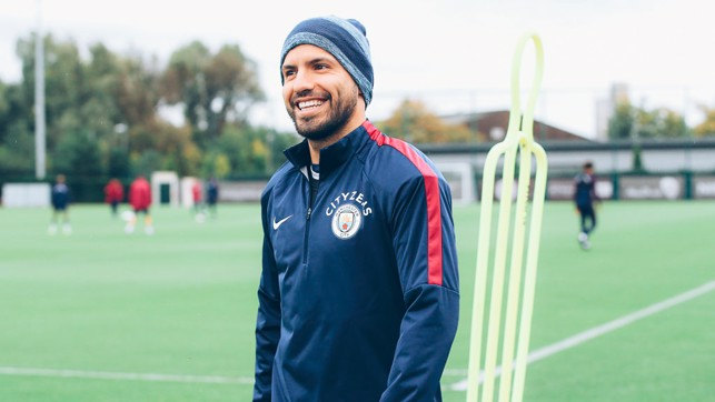 HE'S BACK: Aguero was all smiles