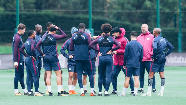 LISTEN UP: The squad are all ears