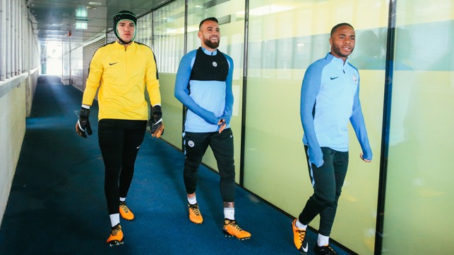 BLUE CARPET: A new sky blue training look for our outfield players.