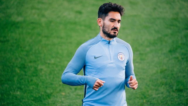 FITNESS: A return to first team action continues to get closer for Ilkay Gundogan.