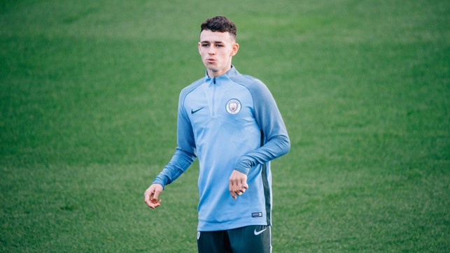 BLUE BOY: Young Phil Foden in action.
