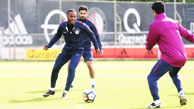 RONDO: Raheem Sterling gives chase