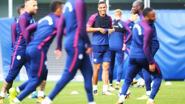 WARM UP: Danilo ready to go.