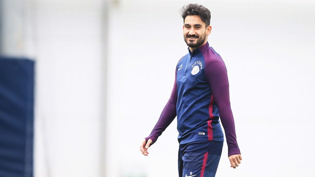 HAPPY CHAP: A smile from Ilkay.