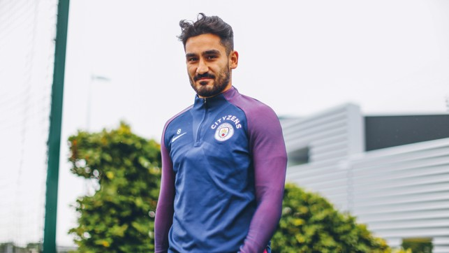 SILKY ILKAY: Gundogan's recovery continues apace as he takes part in another first-team training session