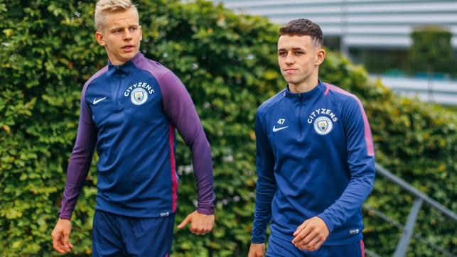 YOUNG GUNS: Zinchenko and Foden continue pushing for a first-team place
