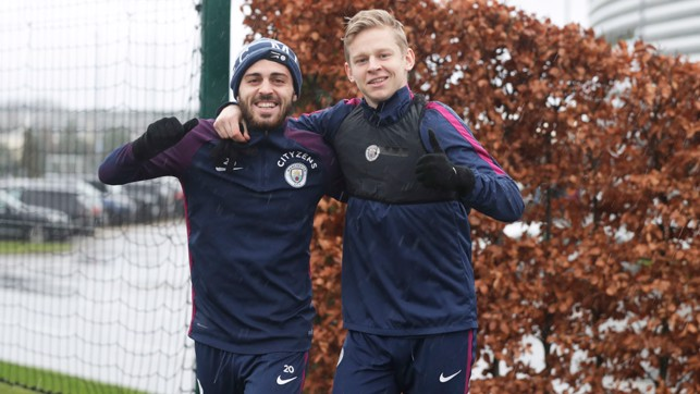 BROTHERLY LOVE: Bernardo and Zinchenko are happy