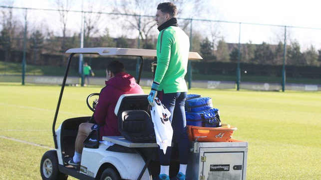HITCH A RIDE: Ederson travelling by public transport