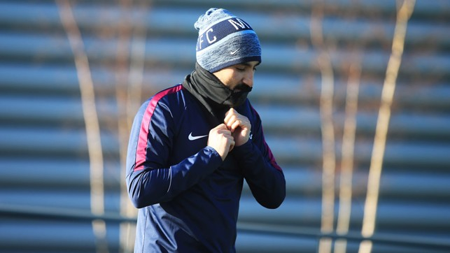 COLD: Ilkay is feeling a bit chilly