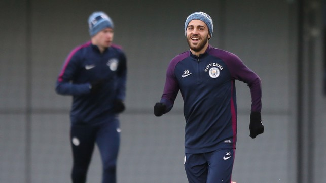 BERNARDO: All smiles with KDB in the background