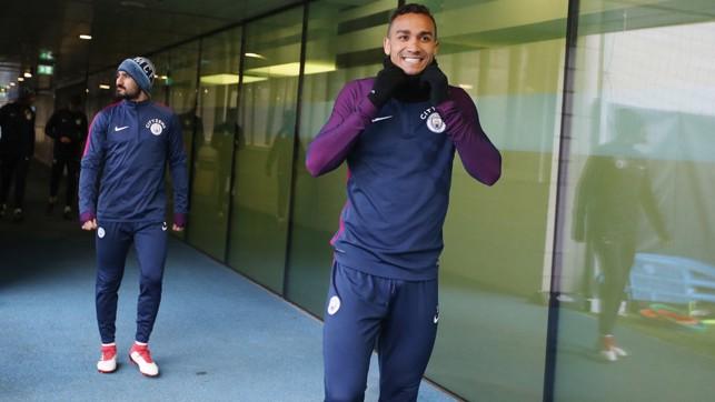 READY FOR IT: Goal-scoring hero Danilo and Ilkay Gundogan