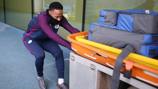 RAHEEM: Taking medical precautions to the extreme...