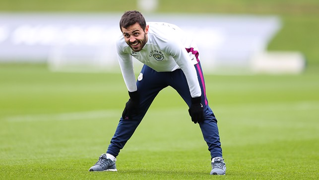 LIMBERING UP: Bernardo Silva eyes our next task.