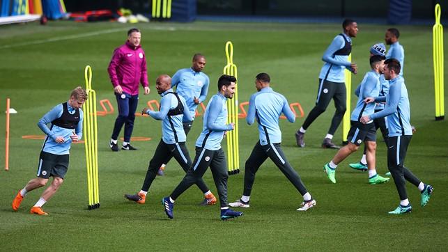 SQUAD GOALS: Training at the CFA.