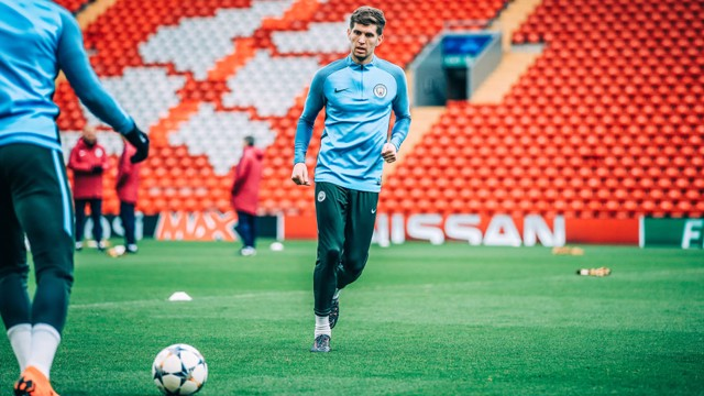 STONES: John Stones back in action.