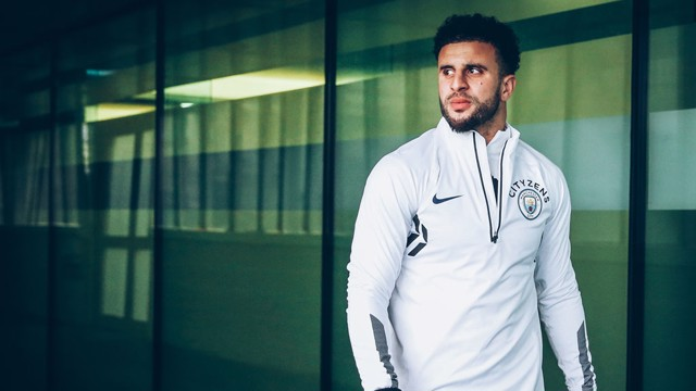 FOCUS: Kyle Walker eyes tomorrow's competition.
