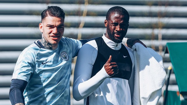 KEEP TOGETHER: Ederson and Yaya