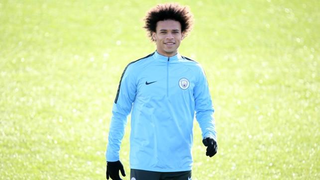 BACK: Leroy Sane made a welcome return to training