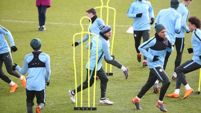 WEAVER: David Silva took part in training at the CFA