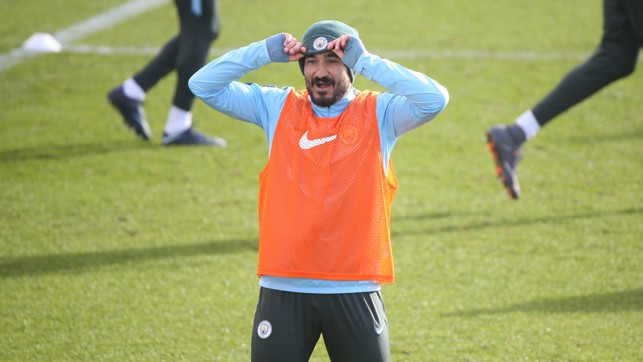 HATTED: Ilkay Gundogan in training