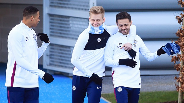 BROS: All smiles on the way to training!