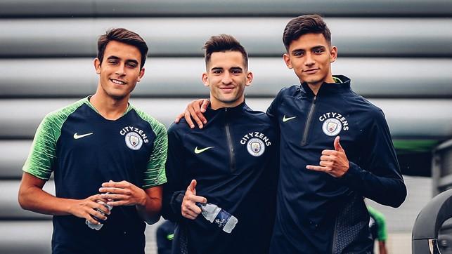 TEEN TRIO: Eric Garcia, Benjamin Garre and Nabil Touaizi.