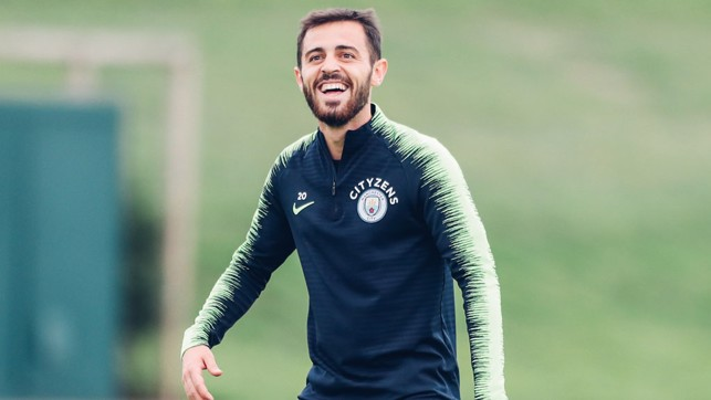 BERNARDO: Smiling from ear to ear in training!