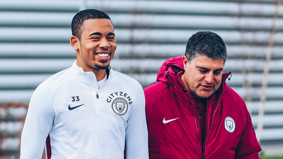 FEELING GOOD: Gabriel Jesus is all smiles following his goal-scoring exploits with Brazil
