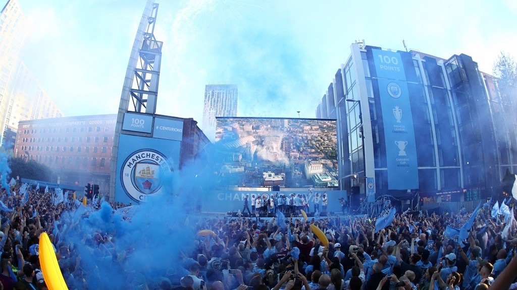 PARTY TIME: Blues celebrate
