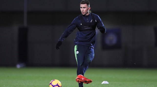LAP IT UP: Aymeric Laporte under the early evening lights at the CFA