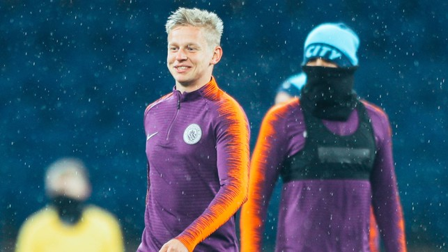HOME, SWEET HOME: Oleks Zinchenko - clearly happy to be back on home soil!