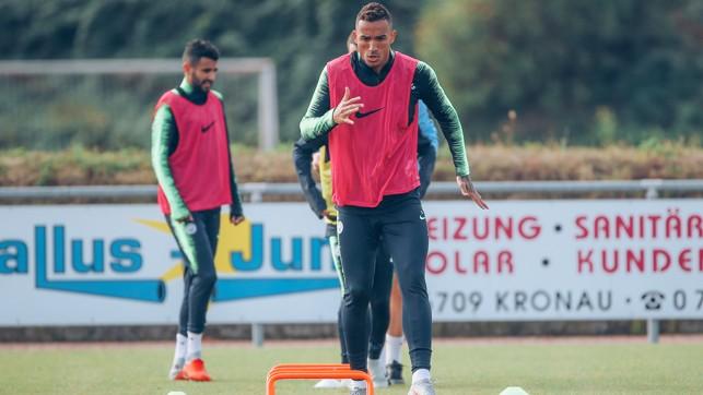 DANI-GO: The Brazilian full-back, on the move