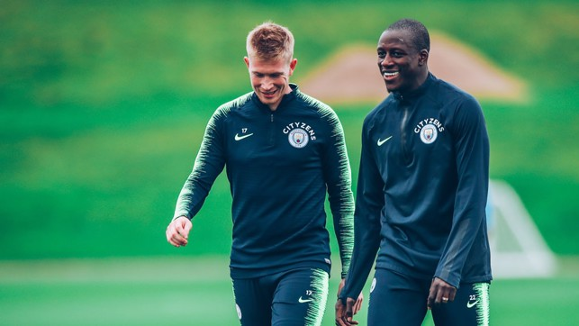 DUO: Kevin De Bruyne and Benjamin Mendy.