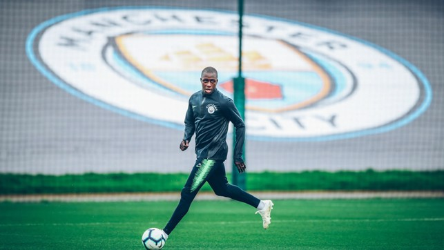 CITY: Mendy prepares for the weekend.