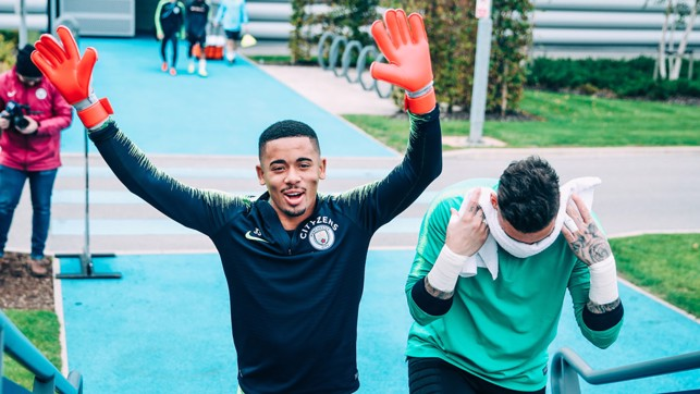 JOKERS: Looks like Ederson and Gabriel Jesus have switched roles!