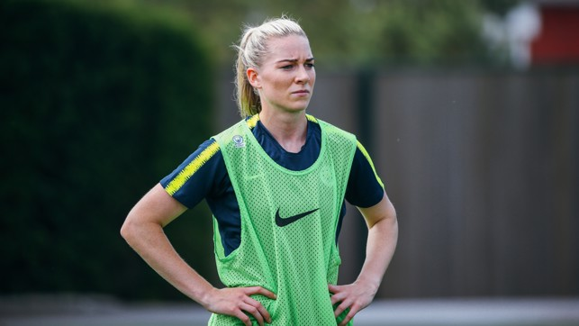 NEW BLUE: Gemma Bonner steps out in her new kit.