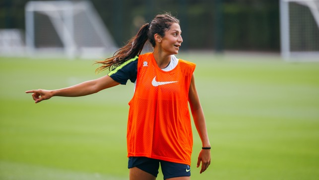 TOUR READY: Nadia Nadim in training this morning.