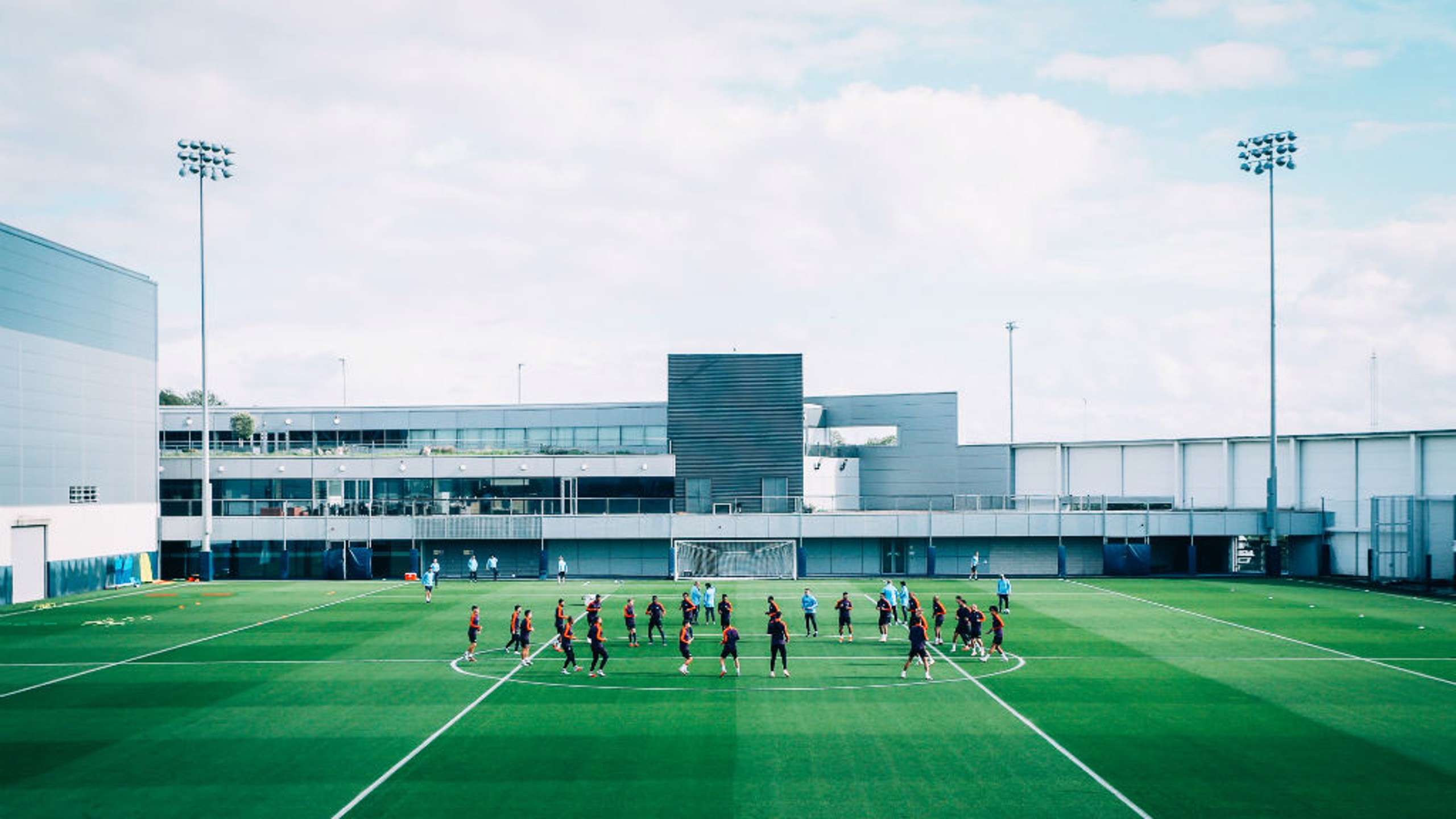 TRAINING: Gearing up for the Champions League.