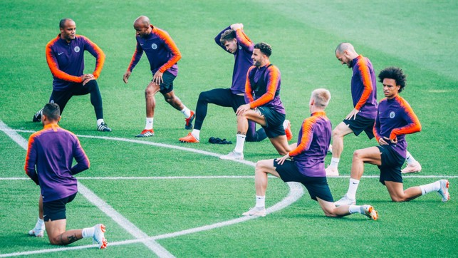 STRETCH: Limbering up for Lyon.