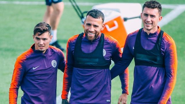 TRIO: Diaz, Otamendi and Laporte.