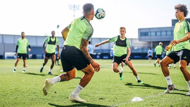 EYES ON THE BALL: Fully focused