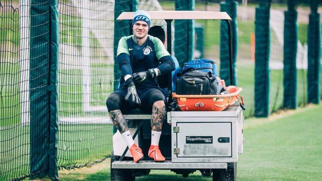 WELL-RESTED DEVELOPMENT: Ederson gears up for training