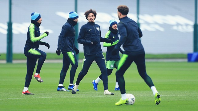 KNEES UP: Gabriel Jesus and Co get in the groove
