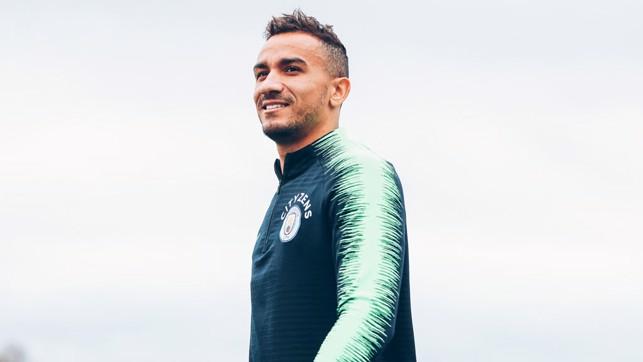 DAN THE MAN: Danilo smiles for the camera