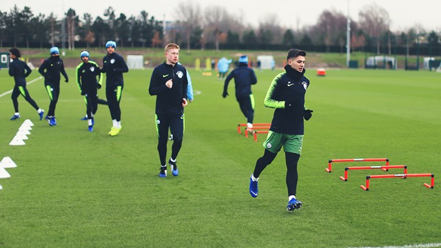 GOOD TO BE BACK: Kevin De Bruyne in the training.