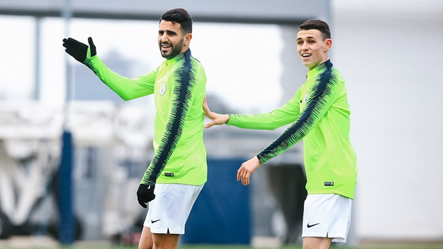 I'M WITH HIM: Riyad and Phil demand the ball
