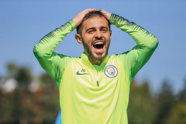 BERNARD-OH!: Something's shocked Bernardo Silva
