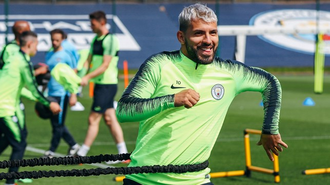 SUN AND GAMES: The ever-playful Sergio Aguero